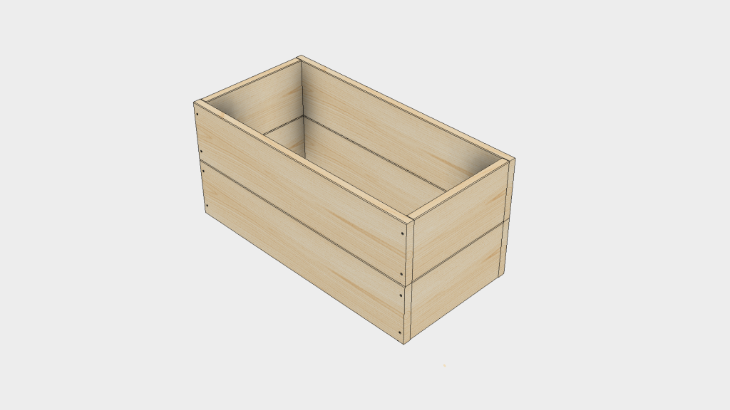 Raised Bed Step 3- Stack Boxes