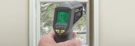 Using a Laser Thermometer to Lower Your Energy Bills
